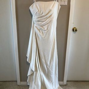 Show stopping white (wedding?) dress!